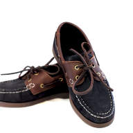 QUAYSIDE Cadets Shoes Navy/Chestnut - QY01001