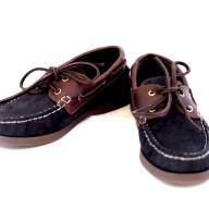 QUAYSIDE Cadets Shoes Navy/Chestnut - QY01001 - QUAYSIDE Cadets NAVY Shoes - QY01001